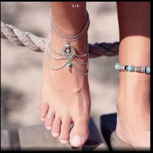 Jewelry - Silver and turquoise anklet bracelet